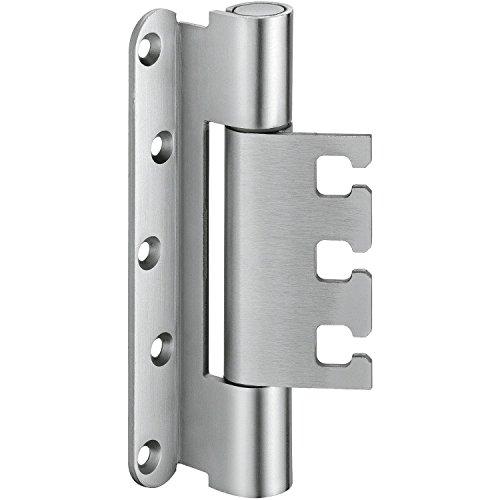 Objektband VX 7939 f. gefälzte Türen, Bandhöhe 160 mm, Edelstahl ; 2 Stück