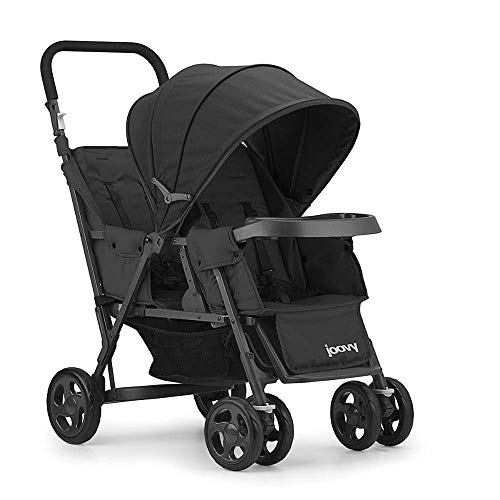 Joovy Caboose Too Graphite Stand-On Tandem Stroller, Black