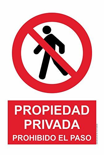 akrocard Cartel Resistente PVC - Prohibido EL Paso - Señaletica de Aviso -...
