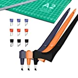 Ersae Craft Cutting Tools (3Pack with 9 Free Blades Included) 360-degree Rotating Carbon Steel Blade (15°, 30°, 45°) Knives for Art Cutting Craft Hobby Scrapbooking Stencil