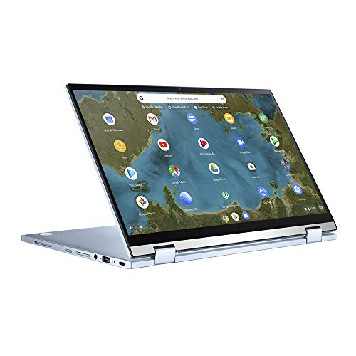 ASUS Chromebook Flip C433TA (90NX02G1-M01410) 35,5 cm (14 Zoll, Full HD, IPS-Level, NanoEdge, Touch) Notebook (Intel Core i5-8200Y, Intel HD-Graphics 615, 8GB RAM, 128GB eMMC, Chrome OS) Silver