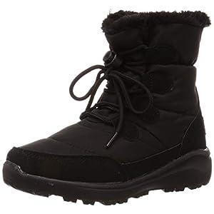 [オリエンタルトラフィック] 防寒 撥水 暖かい 軽量 スノーブーツ 防水 雪 雨 レイン レースアップ ブーツ レディース ボア 大きいサイズ 小さいサイズ 8463/9463 BLACK(19AW) 25.0~25.5 cm E