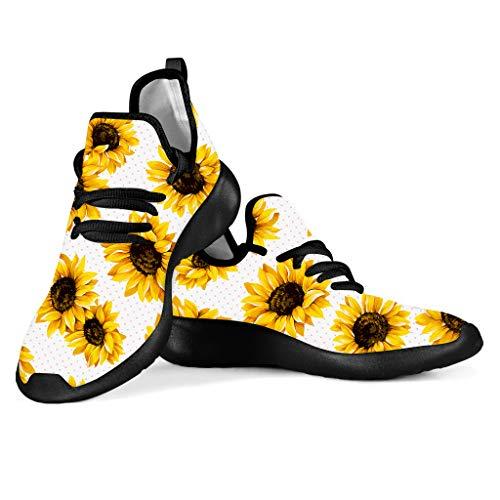 SEANATIVE Zapatillas de correr transpirables para mujer, para senderismo, correr, con cordones, malla, color, talla 43 EU