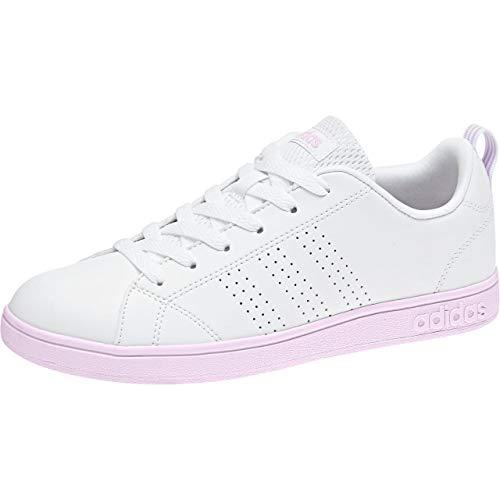 adidas Vs Advantage Clean, Zapatillas de Tenis Mujer, Blanco (Ftwwht/Ftwwht/Aerpnk 000), 44 EU