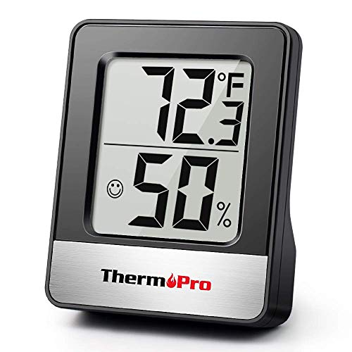 ThermoPro TP49 Digital Indoor Hygrometer Mini Room Thermometer Temperature Monitor and Humidity Meter for Home Office Air Comfort Reptile Thermometer