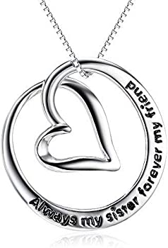 DAOCHONG S925 Sterling Silver Love Heart Pendant Necklace