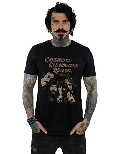 Absolute Cult Creedence Clearwater Revival Homme Pendulum Photo T-Shirt Noir Large