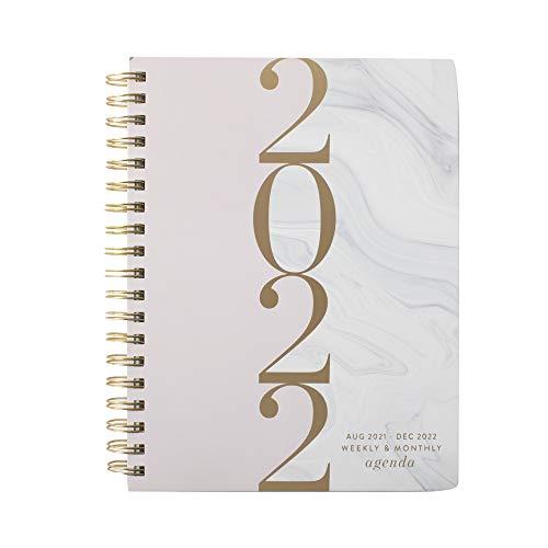 Fringe Studio Agenda espiral 2022, agosto de 2021 - dezembro de 2022, 17 meses, capa de papel, mármore (844143)