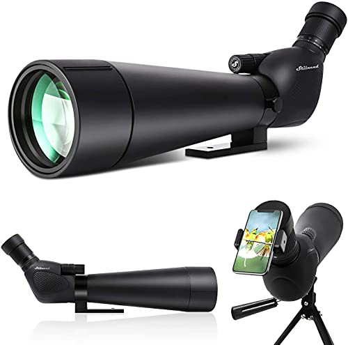 Spotting Scope, Dual Focusing 20-60X90 ED FMC Lens-BAK4 Prism Ultra HD Optics Telescope with Carrying Case Tripod and Smartphone Adapter for Target Shooting Hunting Bird Watching Wildlife Scenery