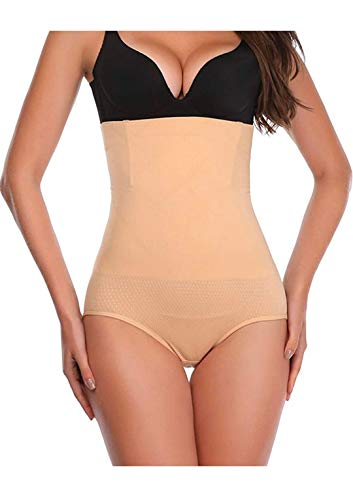 Dilency Sales Women's New Tummy Tucker Grip Wire No Rolling Down Shapewear (Best Fits Upto 32 to 36 Waist Size) (Skin, Fits - (32 to 36))