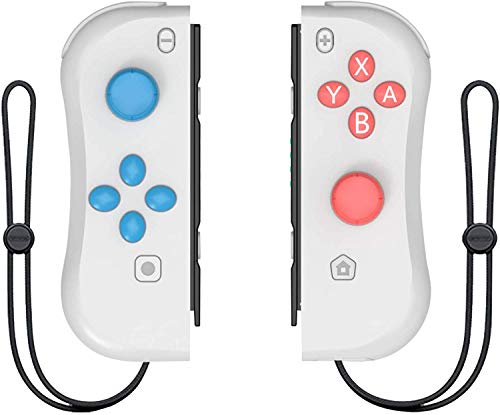 Joy Con Controller Replacement - Left and Right Controllers Wired/Wireless Remotes (Light Gray)