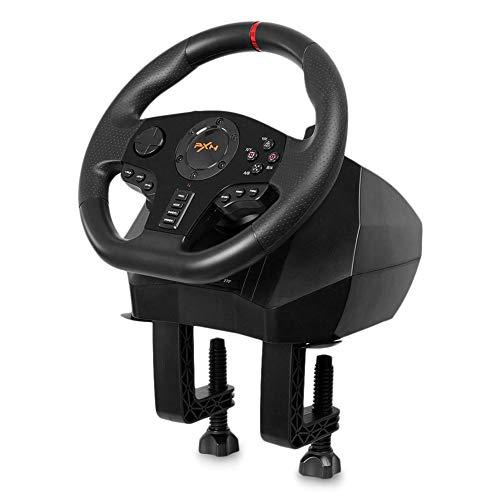 DZSF Gamepad Controller Volant PC Portable Racing Jeu Vidéo Vibration pour PS3 PS4 Commutateur Xbox One PC