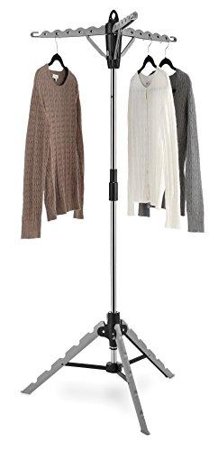 Whitmor Garment & Drying Rack, 28x28x64.5, Grey
