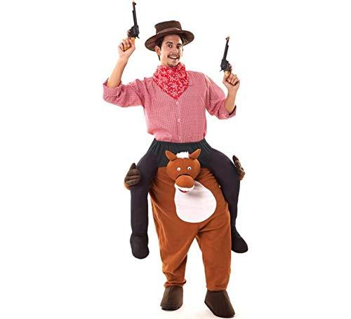 Disfraz de Cowboy a hombros de Caballo para adultos
