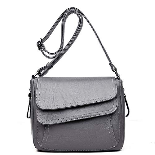 Yidajiu dames handtas schoudertas van leer voor dames handtassen schoudertas vintage voor vrouwen schoudertas met klep