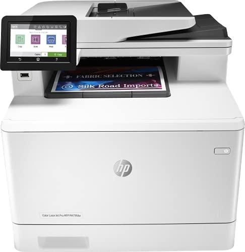 HP Color LaserJet Pro M479fdw W1A80A, Impresora Láser Color Multifunción, Imprime, Escanea, Copia y Fax, Wi-Fi, Ethernet, USB 2.0 de alta velocidad, 1 Host USB, HP Smart App, Pantalla Táctil, Blanca
