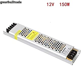 LED Ultra-Thin Drive Switching Power Supply DC12v 60W 100W150W 200W 300W Special Power Supply for Light Box (DC12v 12.5A 1...