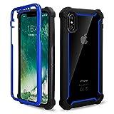 Flyuzi Heavy Duty Protection Doom Armor PC + Soft TPU Téléphone de téléphone pour iPhone 11 12...