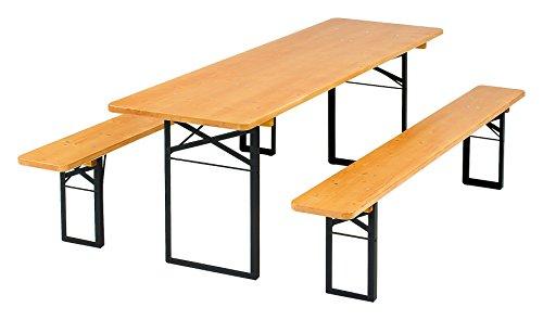 Kunibert Ensemble de qualité 1 A Brasserie 50 breite50 cm Table Couleur : Noyer Couleurs Longueur 220 cm