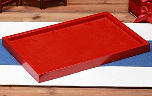 Set de taza de té de boda HRHQ, un par de cuencos, hola, cuencos, conjunto de taza, dote, tazones rojos de boda, suministros de boda-Plato de madera cuadrado (1)