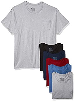 Hanes mens Comfortsoft Tagless Pocket T s 6 Pack Underwear Assorted X-Large US