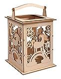 Rayher 62892505 Holz Laterne Einhorn, mit Griff, 15,3 x 15,3 x 26,5cm, Holzbausatz,...