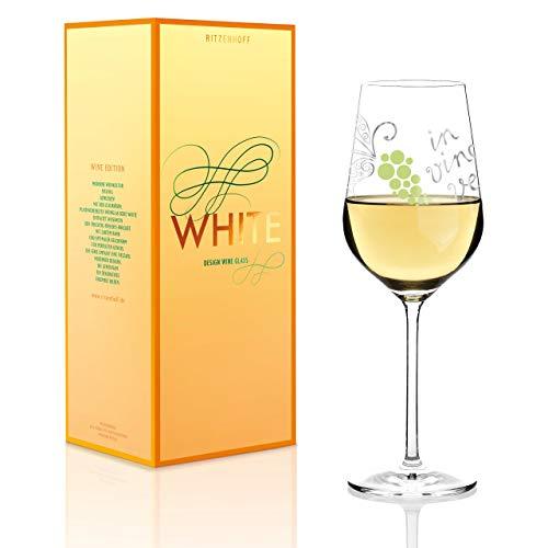 RITZENHOFF White Weißweinglas von Nicole Winter, aus Kristallglas, 360 ml, mit edlen Platinanteilen