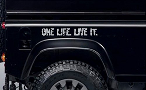 Terra Nomade Argent One Life Live It Stickers Vinyle