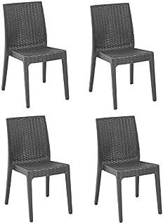 Amazon.it: sedie rattan Sedie Arredamento da giardino e