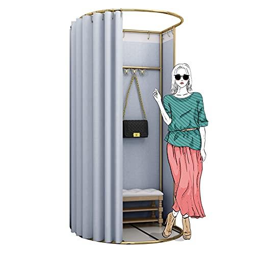 BAIYING Sala De Montaje Simple, Vestuario Portátil Vestuario, Refugio De Privacidad, con Un Gran Espacio, Marco De Metal para Acampar Al Aire Libre, Baño (Color : Gray-A, Size : 100x95x200cm)