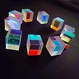 no logo WSF-Prism, 10pcs Defective Cross Dichroic X-Cube Prism Optical Glass Square Prism RGB Combiner Splitter Party Home Decoration