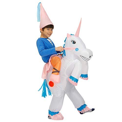 XXLLQ Disfraz Hinchable de Unicornio Adulto/Niño Ropa Inflable Fiesta Carnaval Halloween,Child