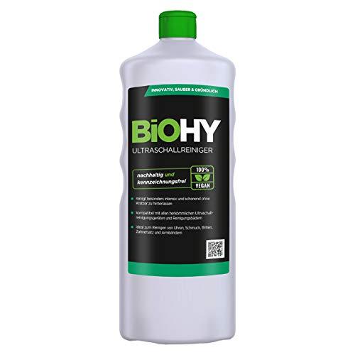 BiOHY Ultraschallreiniger (1l Flasche) | intensive und materialschonende Reinigung von Brillen, Dentalprodukte, Gold, Münzen und Schmuck| KONZENTRAT für Ultraschallbad