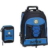 Schoolpack Zaino Trolley F.C. INTER + Astuccio 3 zip completo di cancelleria - scuola 2019-20