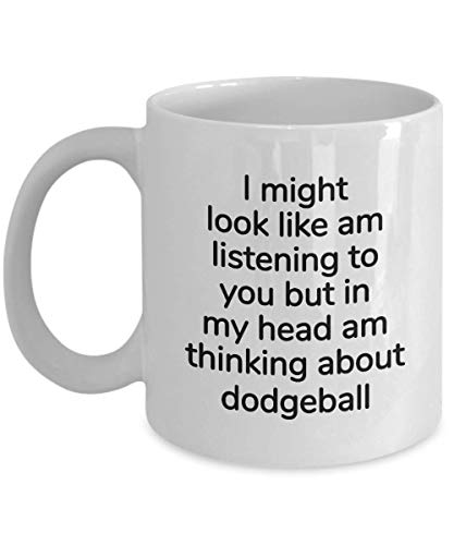 ChGuangm Dodgeball Gifts for him or her - Female or Male Gift for Dodgeball Player - Coffee Mug Tea Cup for Christmas Birthday Present for Any Occassion