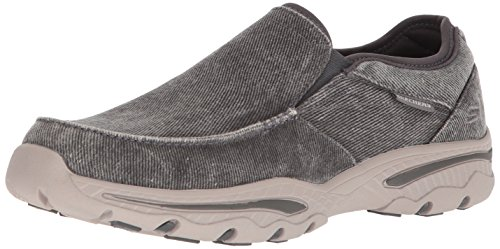 Skechers Men's Relaxed Fit-Creston-Moseco Moccasin, Charcoal, 9 M US