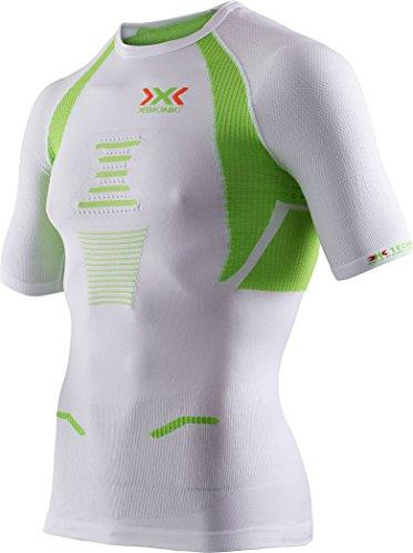 X-BIONIC T-Shirt de Course pour Homme The Trick Ow S, M, L, XL ou XXL Blanc/Citron Vert