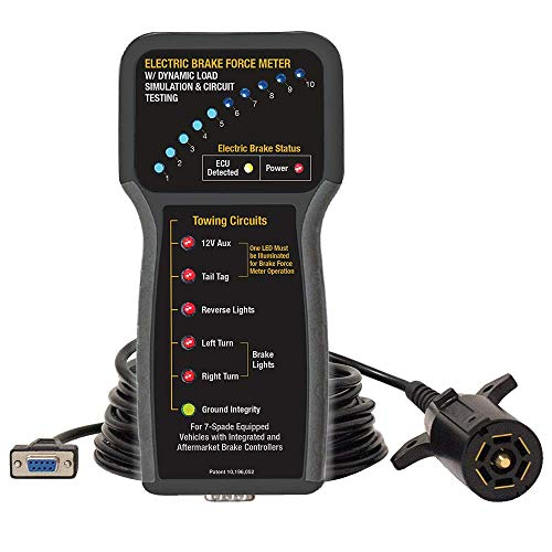 Innovative Products Of America - 9107A Electric Brake Force Meter w/Dynamic Load Simulation and Circuit Testing Black