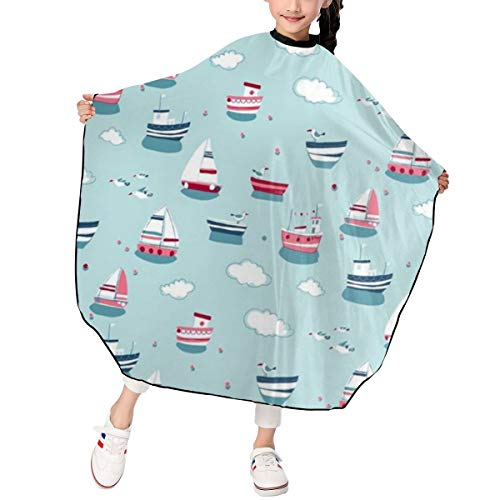 Kids Haircut Apron,Cute Steamer Barber Cape Cover for Hair Cutting,Styling and Shampoo, for Boys and Girls