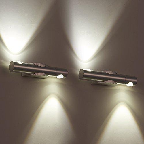 Aplique orientable aluminio lámpara de noche decorativo salón moderno minimalista luz frontal la pared espejo escaleras luces fuegos