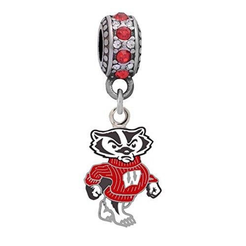 University of Wisconsin Mascot Charm Compatible with Pandora Style Bracelets