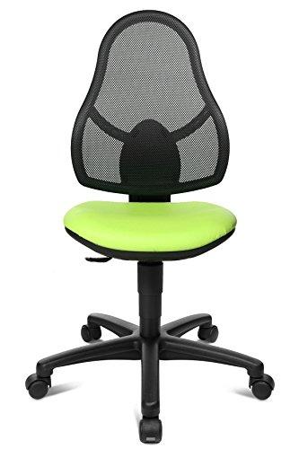 Topstar Kinderdrehstuhl Maxx Net Junior apfelgrün/schwarz mit Teppichbodenrollen