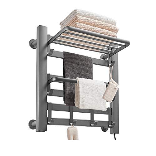 Toallero Calentador De Toallas Eléctrico con Calefacción Riel De Toalla De Aluminio...