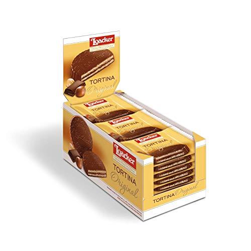 LOACKER TORTINA kuchen kekse schoko riegel schokolade cookies INDIVIDUALS (Pack 21g x 24)