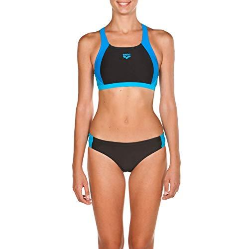 Arena W Ren Bikini Sportivo, Donna, Nero (Black-Pix Blue-Turquoise), 42