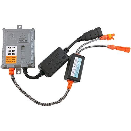Decodificador HID De 55W AC Canbus Xenon Ballast Error Free Para Lámparas De Bombilla De Luz De Xenón Para Automóviles H1 H4 H7 H8 H3 H11 9004 9005 Fácil Instalación ( Color : 2 pcs )