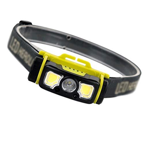 Faros Delanteros LED Luces de Camping Deportes al Aire Libre Luces de Noche de Pesca Luces de Escalada Miner lámpara de Mantenimiento de Trabajo Luces, Aleación de Aluminio, Negro, 4 * 8.9 * 4CM