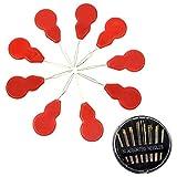 Heatigo Nadeleinfädler, 9 Kupferdrähte pro Packung, kürbisförmiger Kunststoffeinfädler, zum Sticken und Kreuzstich verwendet (eine Schachtel Nadeln senden)