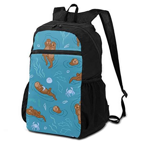 JOCHUAN Ultralight Foldable Backpack Cartoon Cute Funny Slowly Animal Otter Daypacks for Women Travel Hiking Daypacks for Men Lightweight Waterproof for Men & Womentravel Camping Outdoor