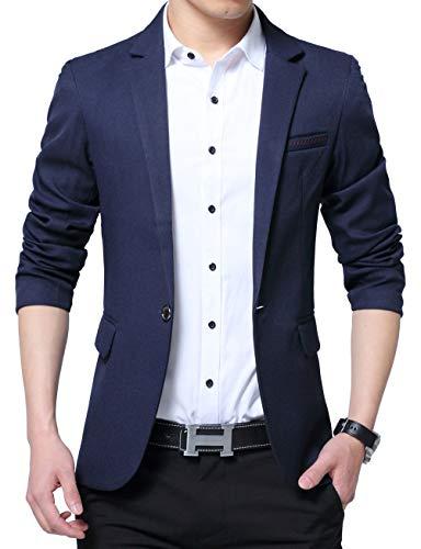 Nemopter - Disfraz de hombre Blazer Slim Fit con botón informal para...
